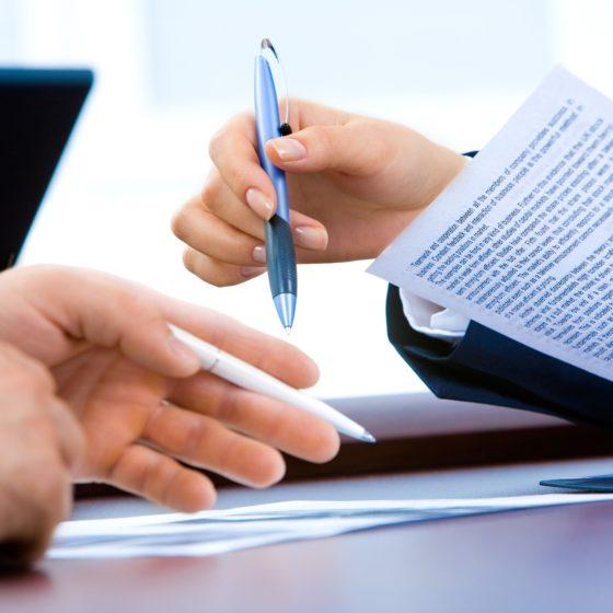 représentation d'une signature de contrat